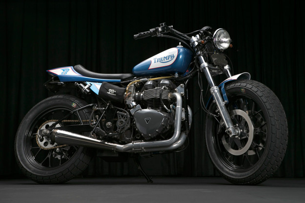 Form and function collide in spectacular style with this Triumph street tracker from Bonneville Performance.