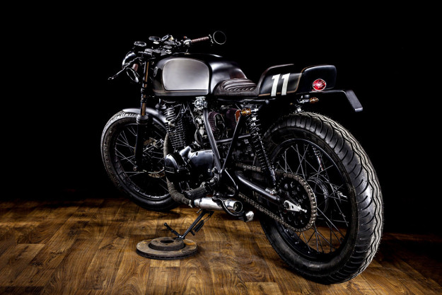 Less is more: Macco Motors' custom Yamaha XS400 is so minimal, it's even lost its electric start.
