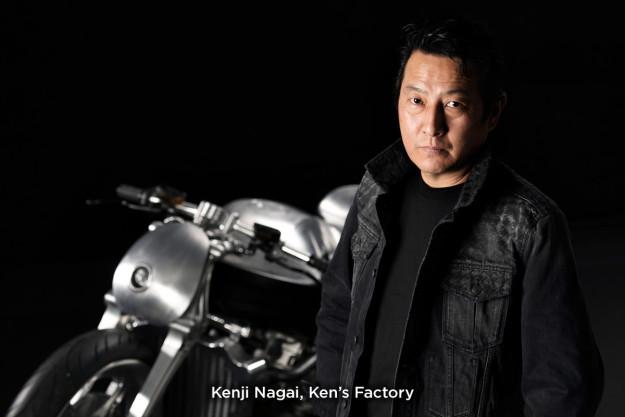 BMW custom motorcycle builder Kenji Nagai of Ken's Factory