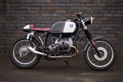 Oxblood: a classy BMW R80 street scrambler from the London shop Urban Rider.