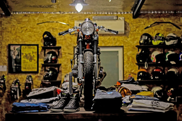 Back On Two, an intriguing custom motorcycle shop in the small city of Ness Ziona, Israel.