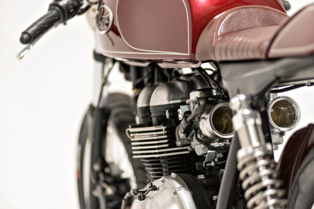 Triumph Thruxton cafe racer built by Kott Motorcycles for Ryan Reynolds