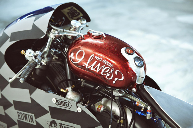 The French custom builder Séb Lorentz has elevated motorcycle drag racing to a new level with his Sprintbeemer.
