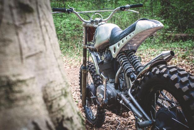 Custom Ducati Scrambler built by Bryan Fuller of the Velocity show Naked Speed.