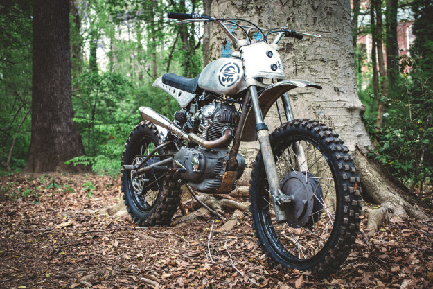 Custom Ducati Scrambler built by Bryan Fuller of the Velocity show Naked Speed.