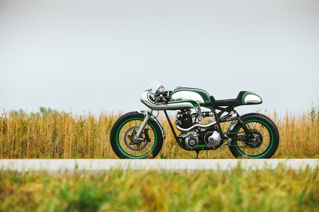 Immaculate Norton Commando 750 resto-mod by Fuller Moto.