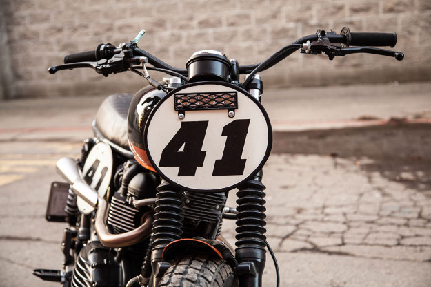 Teeth Gnasher: a race-ready Triumph Scrambler bike.