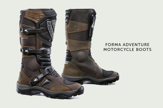 Forma Adventure motorcycle boots.