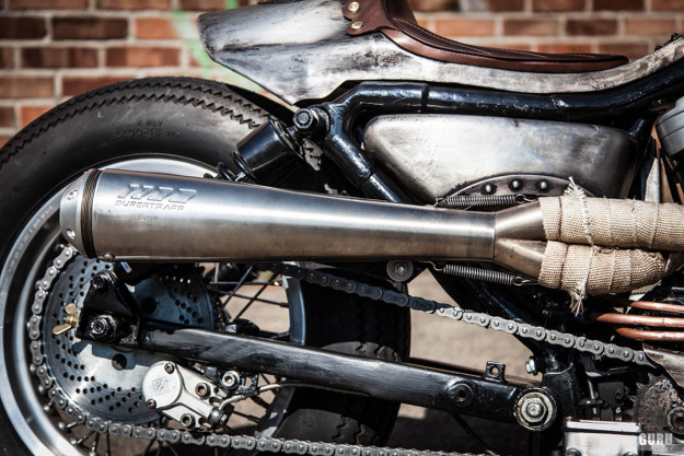 Old Iron: A cafe bobber Harley-Davidson Sportster custom from Germany.