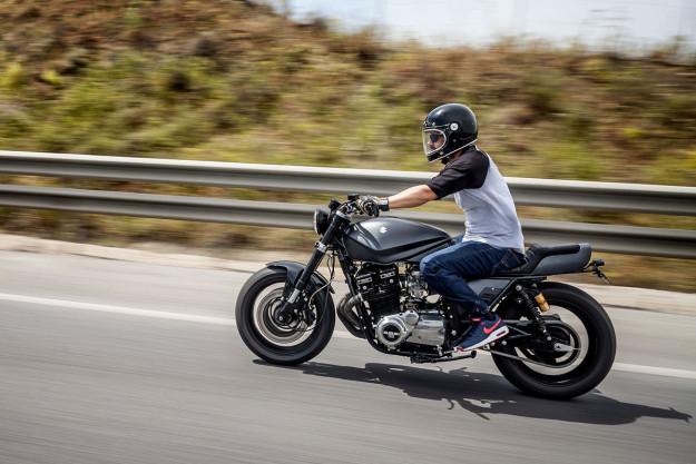 Iron Fist: A brutal Suzuki Katana custom motorcycle from Macco Motors.