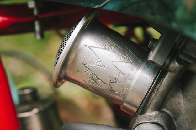 A classic Ducati 350 inspired by Hayao Miyazaki's anime epic, 'Princess Mononoke.'