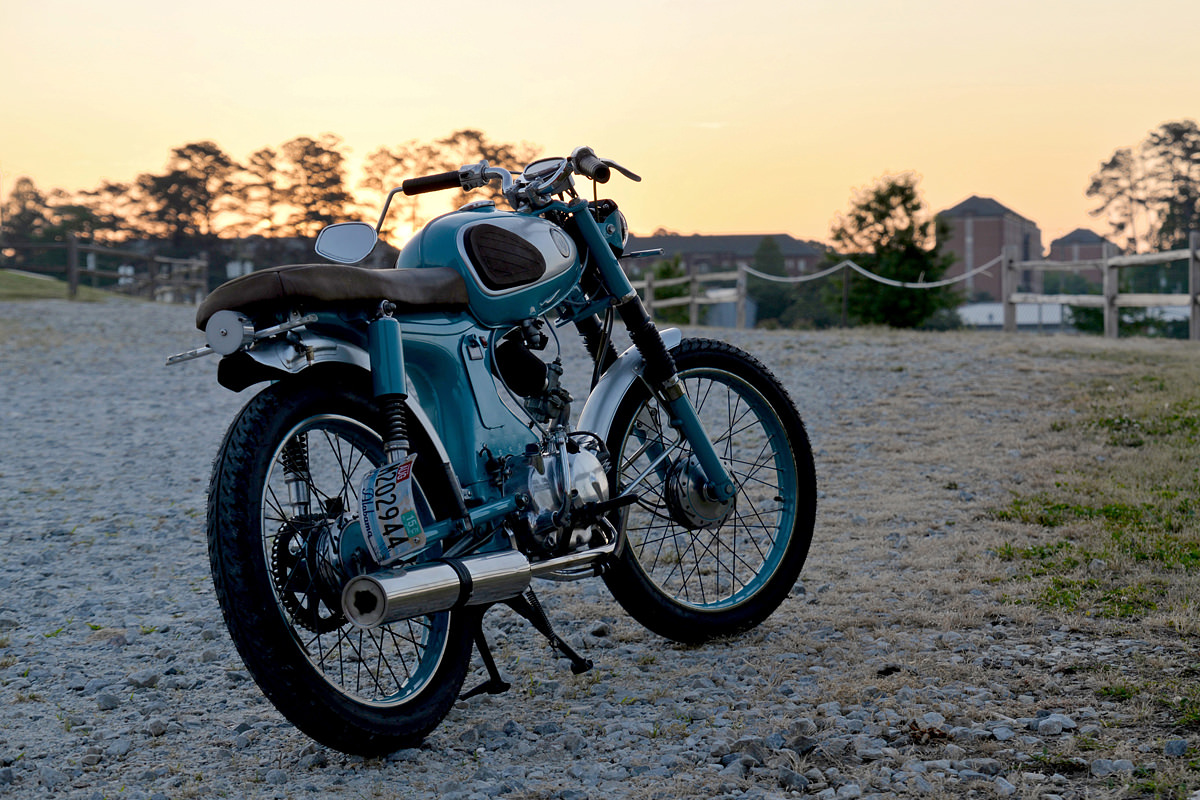 A Man Built This Honda S90 In His Apartment Bike Exif Wiring For The Exhaust Simon Bent And Welded New Stainless Steel Header Used Two Water Bottles To Build Silencer
