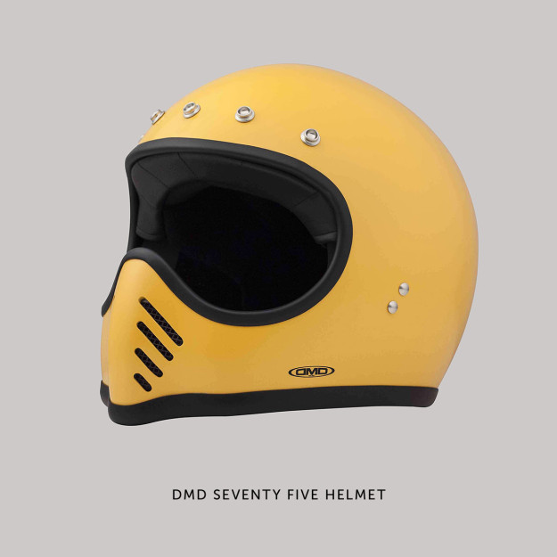 DMD Seventy Five motorcycle helmet: a modern take on the classic Bell Moto 3.