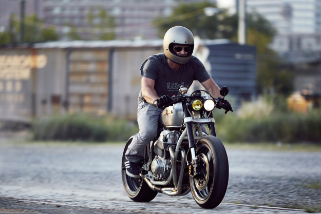 Star Struck: A NASA-inspired Honda CB 750 cafe racer.