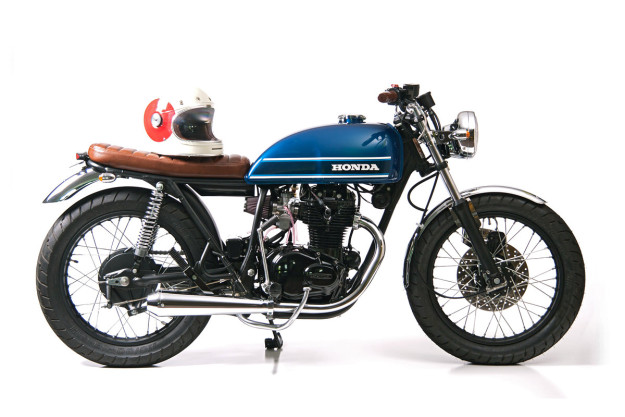 Lean and clean: A Honda CB360T resto-mod by Slipstream Creations.