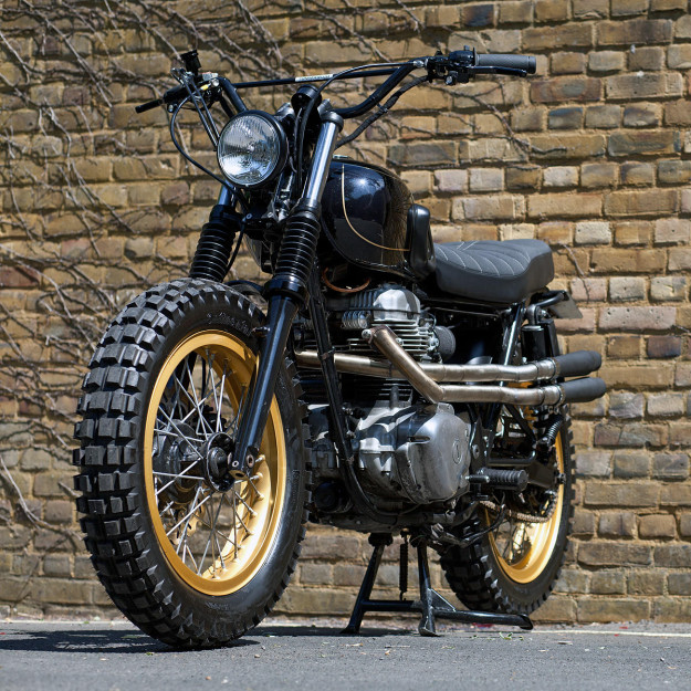 Dirt Is Good: A custom Kawasaki W650 by Urban Rider of London.