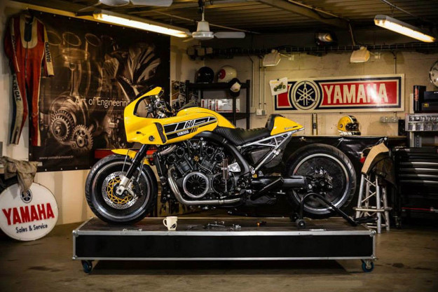 Yamaha Yard Built VMAX 'The V-Speed' by Liberty Yam, France.