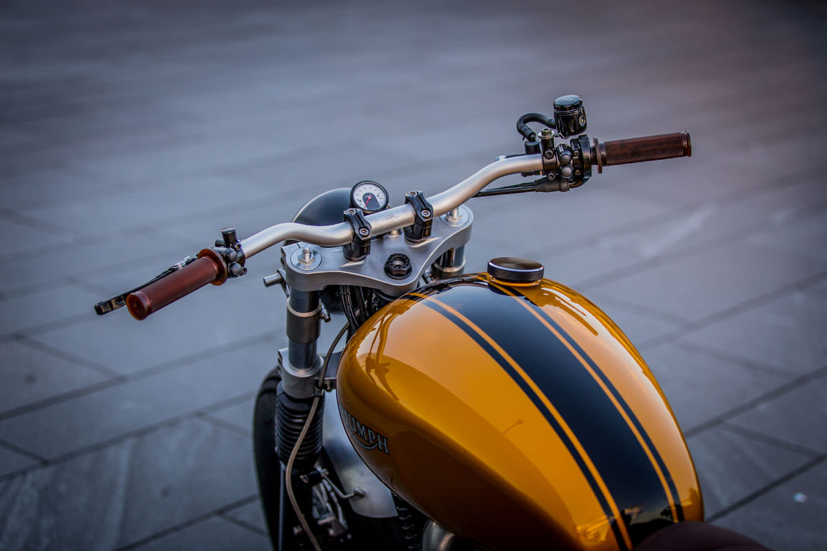 down & out cafe racers triumph thruxton | bike exif