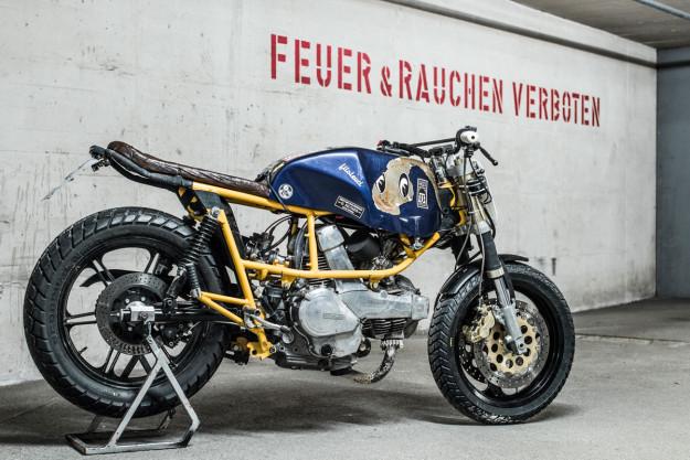 Ducati Pantah 500 race bike built by Hermann Köpf of Craftrad magazine.