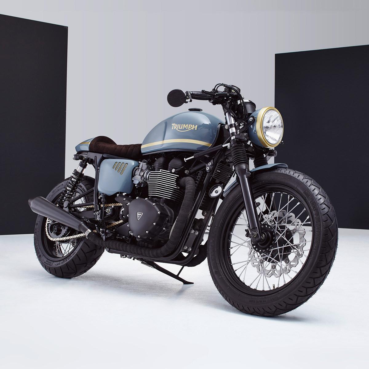 factory fresh: a bonneville custom from bunker | bike exif