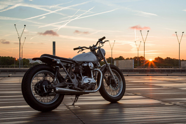 The French Way: A custom Kawasaki W650 by Bad Winners of Paris.