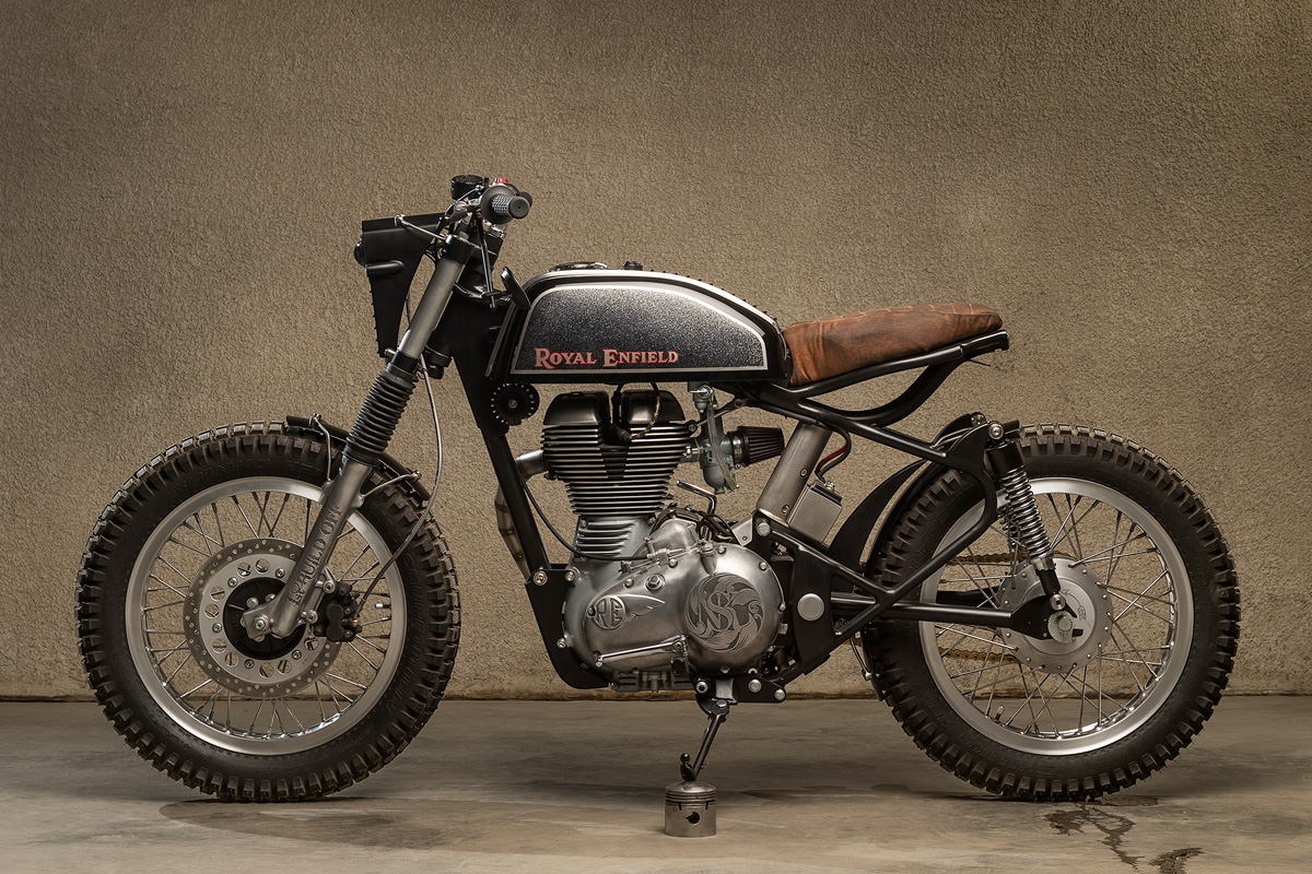 A Royal Enfield Electra Front End Was Fitted To Give The Bike A More  Scrambler Feel, While Keeping Things Brand Focussed. Itu0027s Matched To A Set  Of New Rear ...