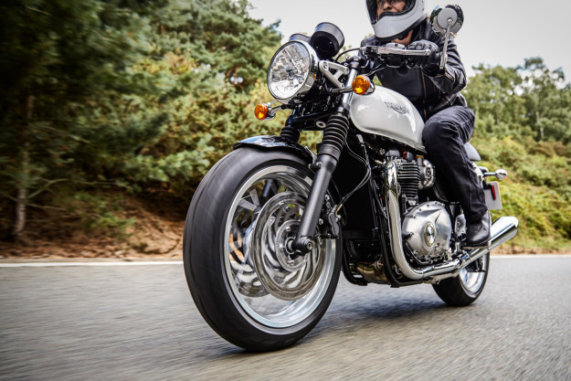 New Triumph Thruxton on the road