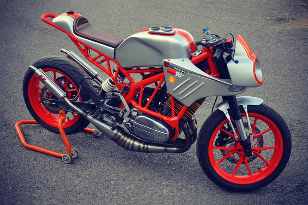Hybrid Yamaha RD350 and KTM Duke custom by Inline3