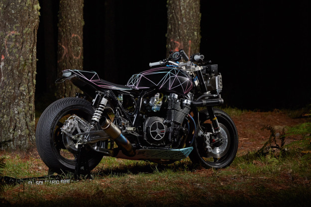 Big Bad Wolf: Yard Built Yamaha XJR1300 by El Solitario MC