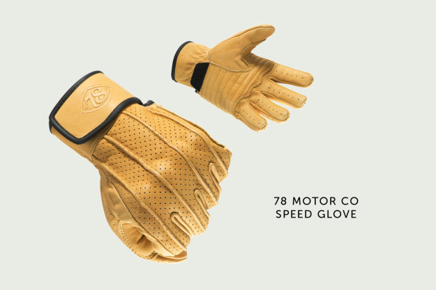 Speed motorcycle glove by 78 Motor Co.
