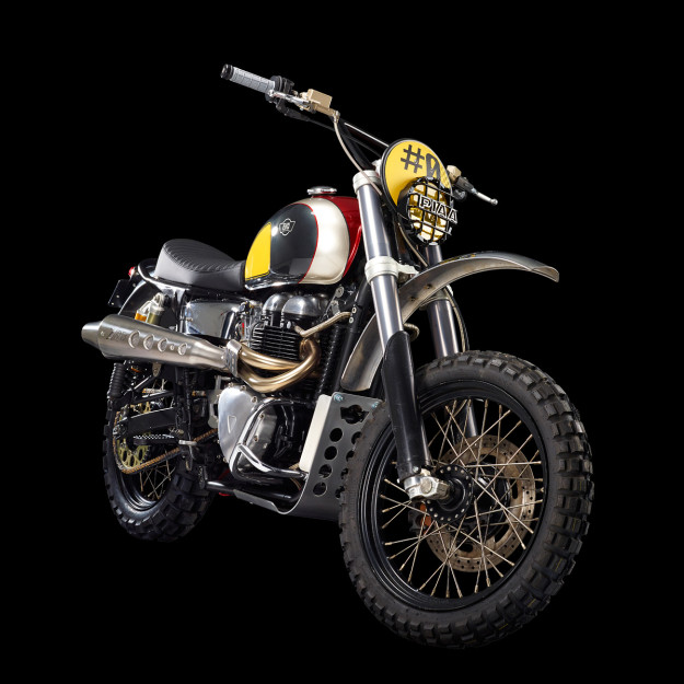 Modern day desert sleds: Ton Up Garage recreates the original Bonneville scrambler vibe.