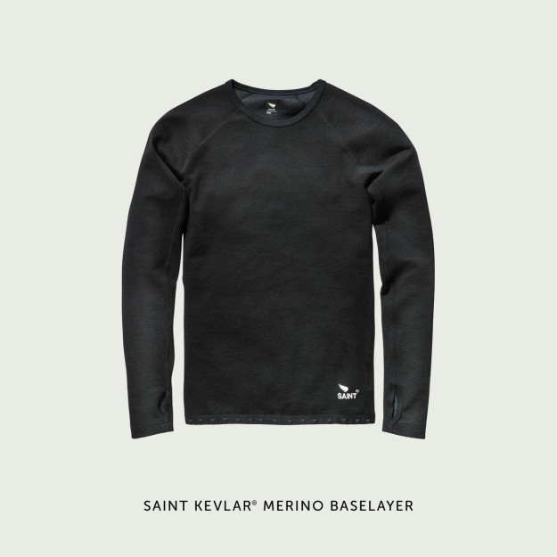 Saint Mens Kevlar® Merino Double-Knit Long Sleeve Baselayer