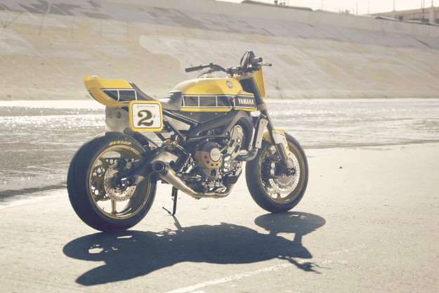 Faster Wasp: Roland Sands gives the Yamaha FZ-09 an almighty sting and the flat-track treatment.