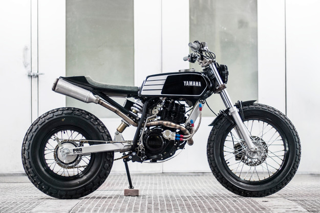 Fat Tracker: a chunky Yamaha TW200 from South African shop Wolf Moto.
