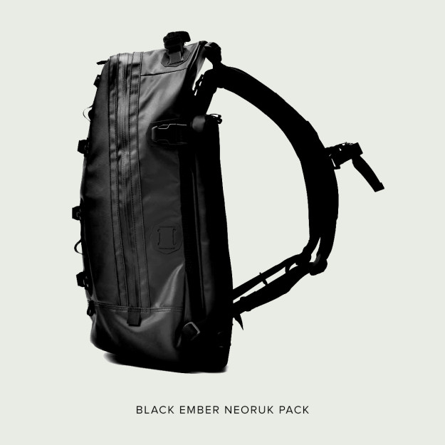 Black Ember motorcycle backpack