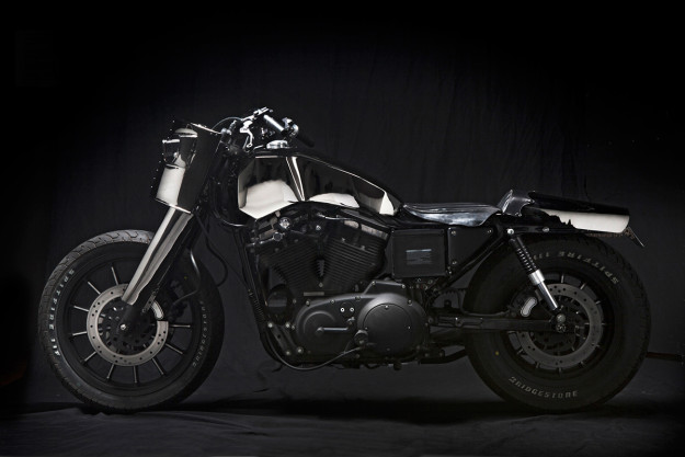 New from El Solitario, makers of The World's Most Hated Motorcycles: the radical Harley Sportster 'Malo/Bueno'