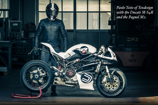 Paolo Tesio wears the Pagnol M2 motorcycle jacket.