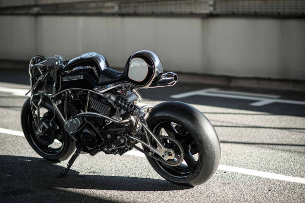 Heavy Breathing: A turbo'd Harley Street 750 from Cherry's Company