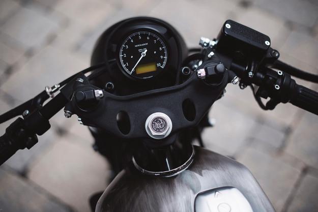 This Honda CB900 Custom from Clockwork Motorcycles has 10 speeds.