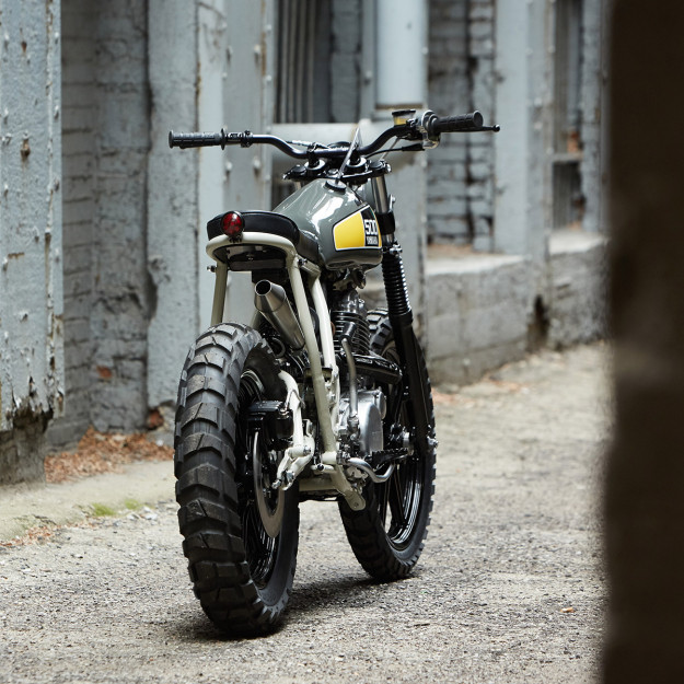 Sunshine State Of Mind: a custom 1978 Yamaha SR500 by Powder Monkees and Federal Moto.