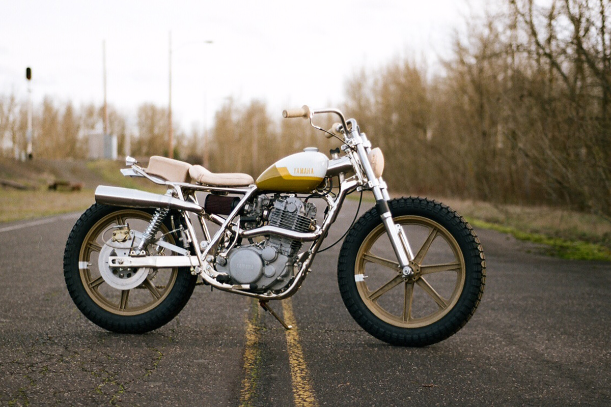 A Yamaha SR500 with a dirt track vibe from One Down Four Up.