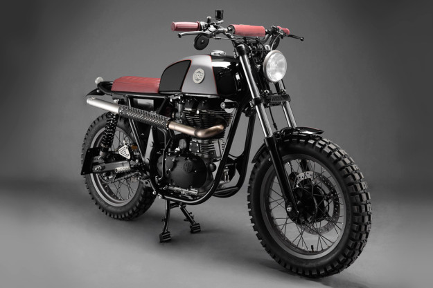Analog Motorcycles transforms the Royal Enfield Continental GT into a go-anywhere scrambler.