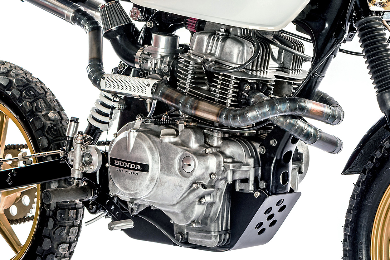 Turning The Honda Cm400 Into An Urban Assault Machine Bike Exif Electrical Wiring Diagram Of Cm400a Biggest Undertaking Though Was Intricately Routed Exhaust System Initial Plan To Use Pre Bent Pipes But Obtaining Desired Effect