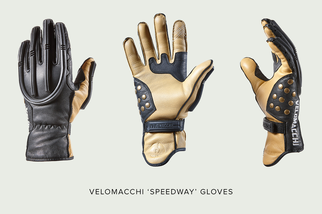 Motorcycle gloves d30 - Velomacchi Speedway Motorcycle Gloves Full Size