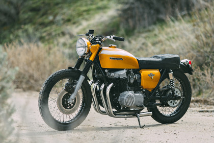 Gold Standard: 1971 Honda CB750 by Rawhide Cycles'.