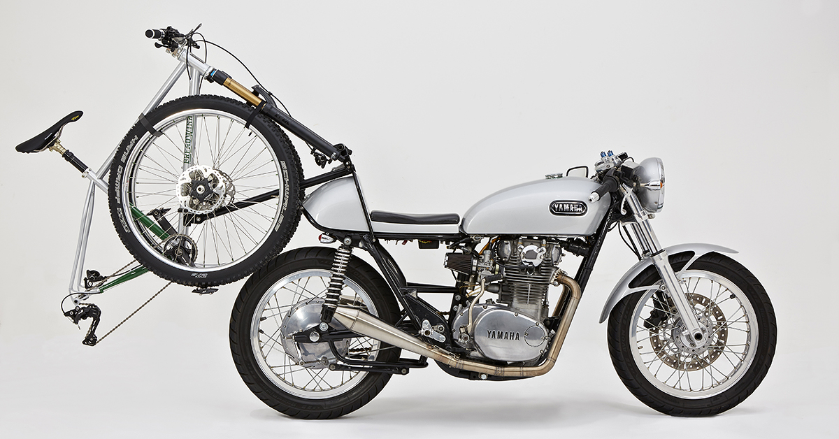 Not Your Everyday Carry: A Yamaha XS650 with a bike rack