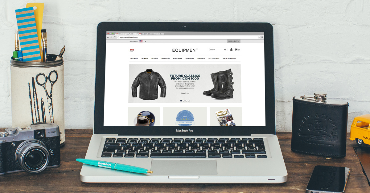 New: The Bike EXIF motorcycle gear store