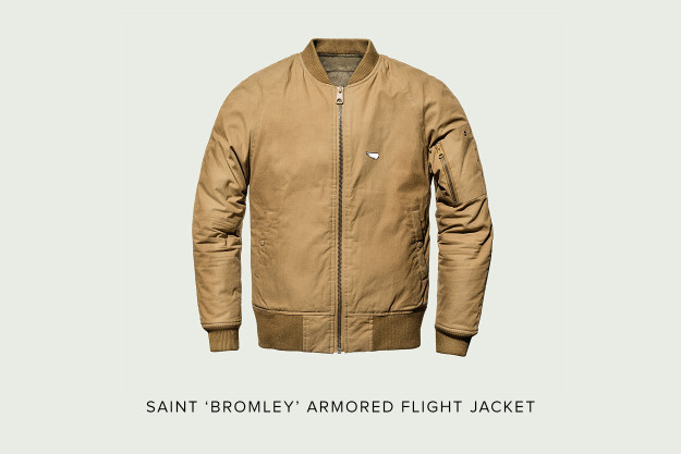 Saint 'Bromley' motorcycle flight jacket.