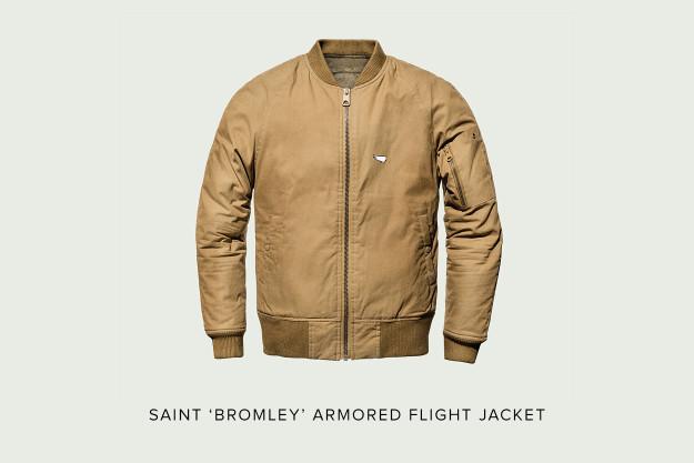 Saint 'Bromley' motorcycle flight jacket.