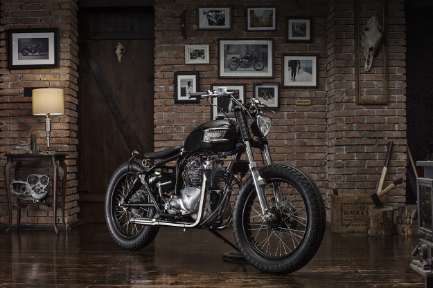 1961 Triumph Speed Twin 5TA given the bobber treatment by Bunker Custom Cycles.